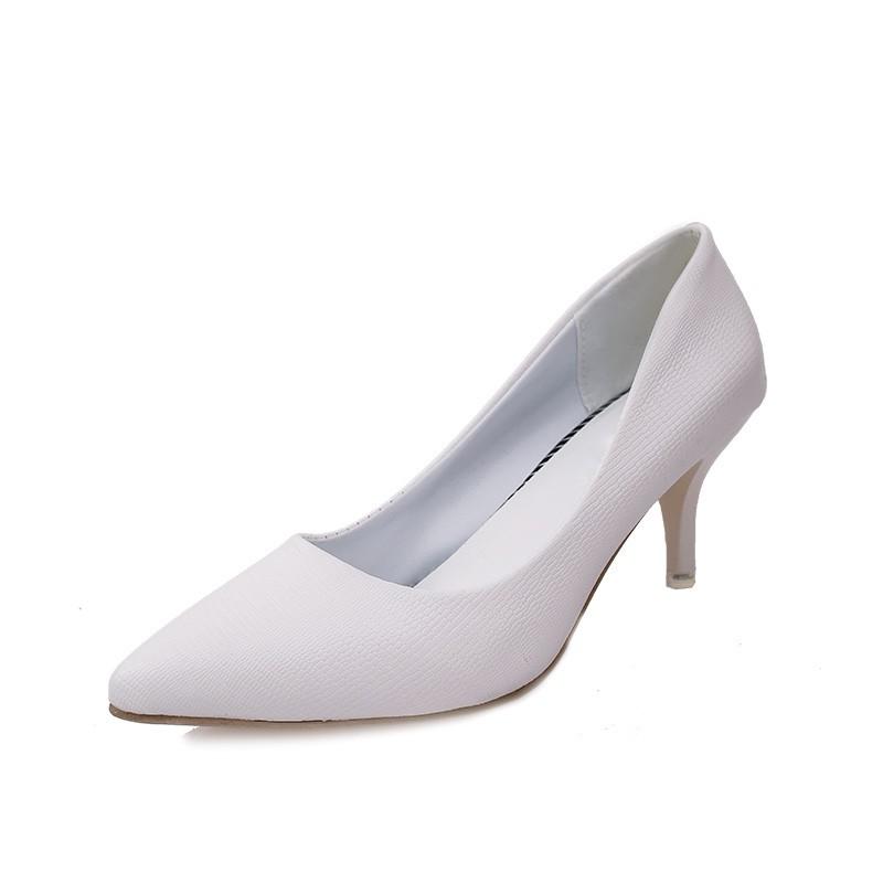 08b9e2647de Nightclub Sex Women High Heel Shoes Pointed Thin Heels Pumps ...