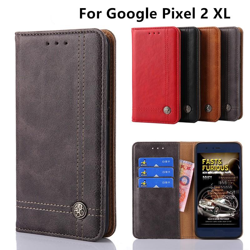 Flip Google Pixel 2 XL Case Cover Wallet Leather Google Pixel 2 XL Phone  Case
