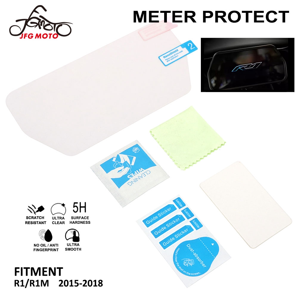 Cluster Scratch Protection Screen Protector for 2015 16 17 18 Yamaha YZF R1 R1M