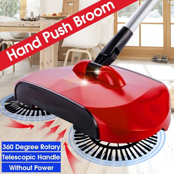 Automatic hand sweeper broom cleaner with 360 rotation