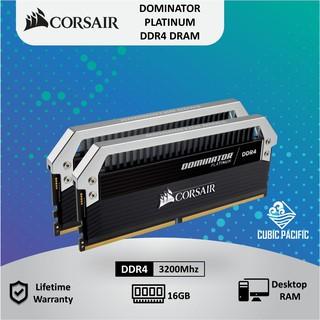CORSAIR DOMINATOR PLATINUM 16GB (2X8GB) DDR4 DESKTOP RAM 3200Mhz