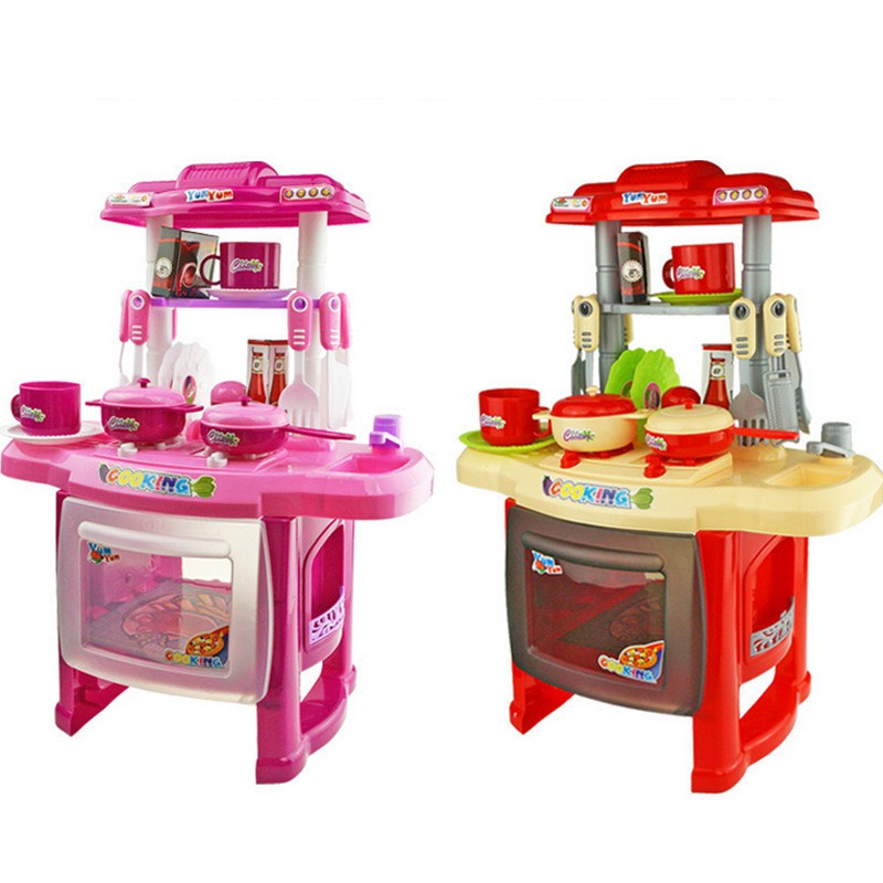 Kitchen Playsets For Toddlers: Mini Kitchen Fun Playset With Full Utensils Set