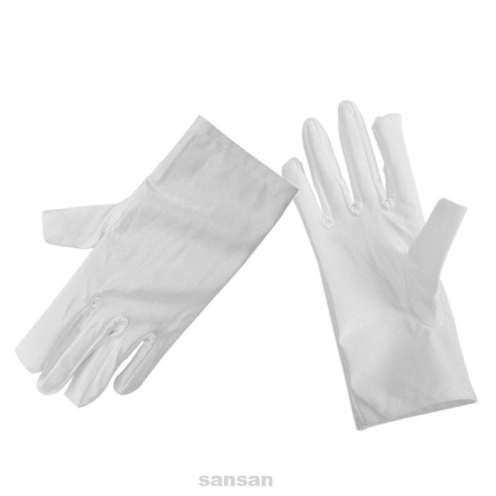 CHILDS  WHITE SATIN GLOVES BRIDESMAID//FLOWER //DANCE