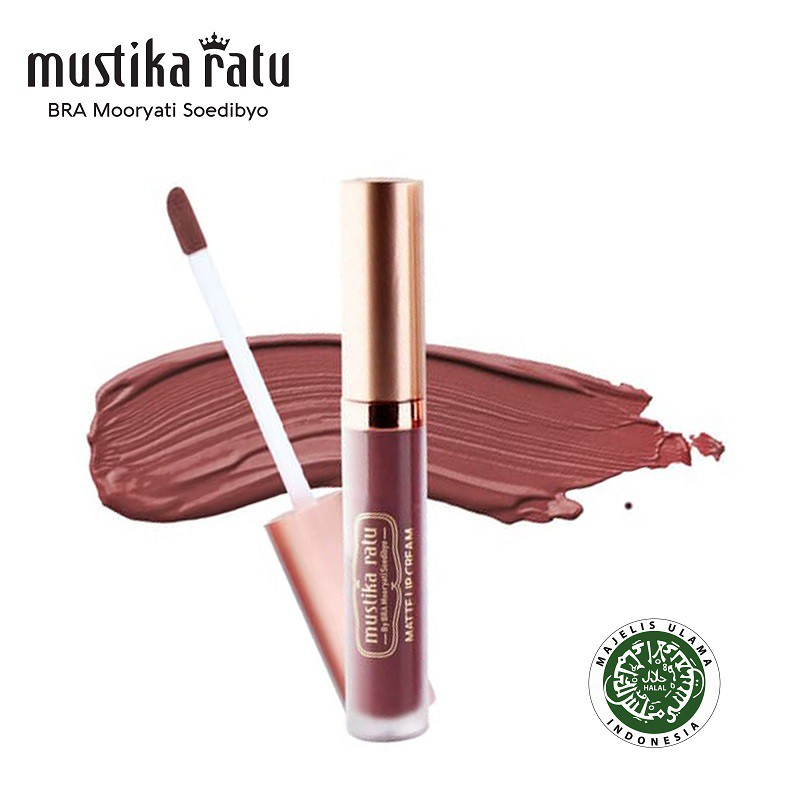 Mustika Ratu Lip Cream Matte Precious Poppy MR 4.7gr