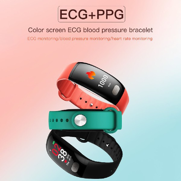 Heart Rate Blood Pressure Monitor Smart band B51 With ECG PPG Support SDK  API