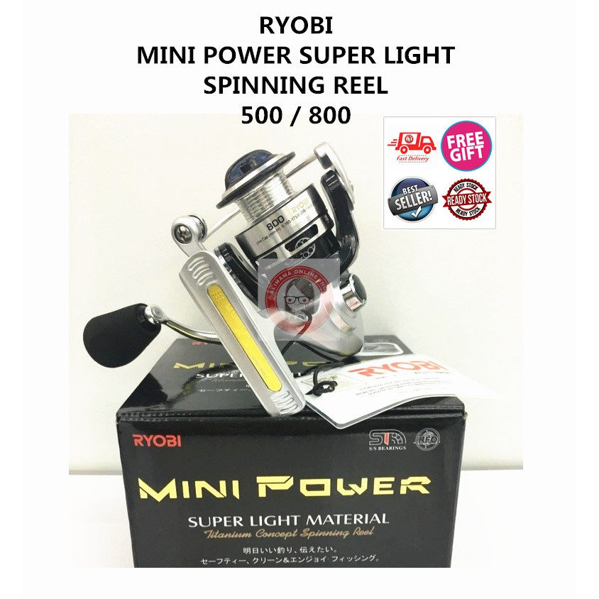 100% ORIGINAL RYOBI MINI POWER 500 800 ULTRALIGHT SUPER LIGHT SPINNING REEL