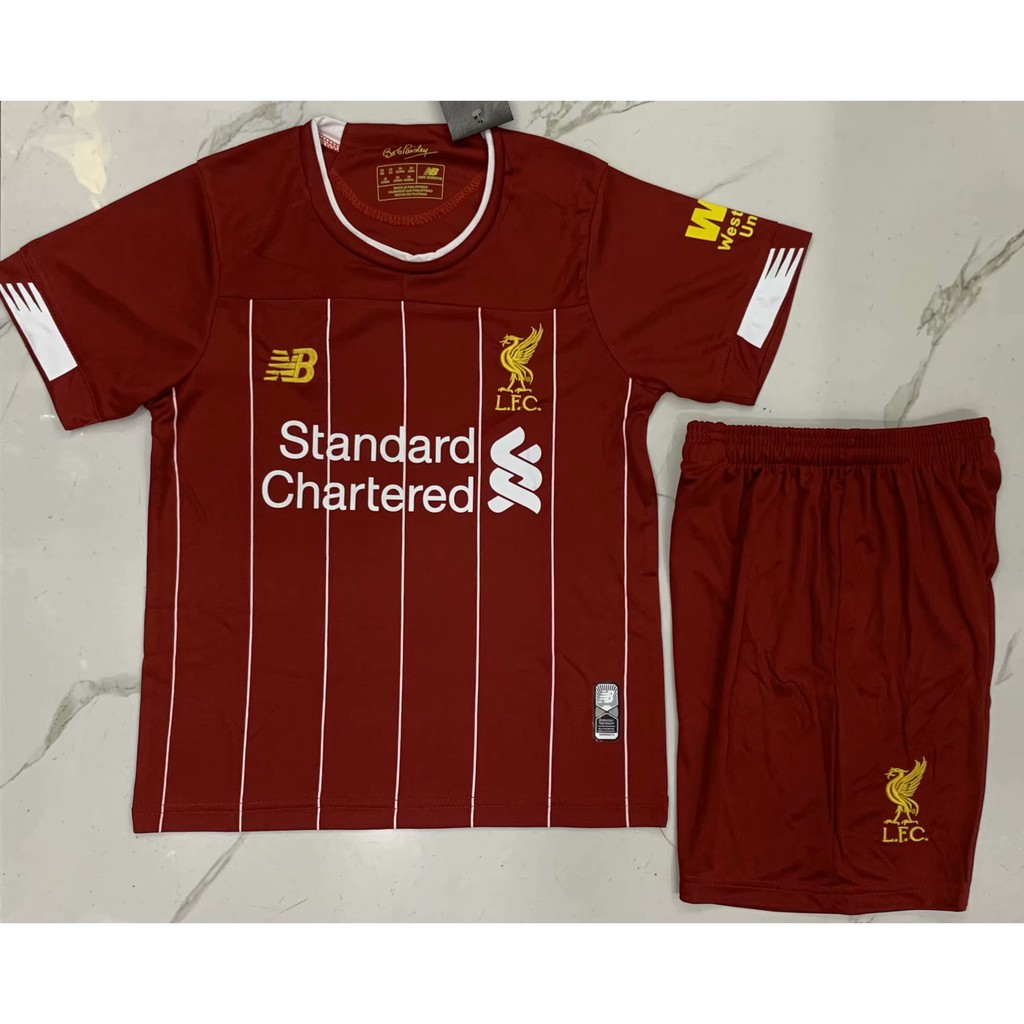 sports shoes b8065 8184a 🔥New 19/20 🔥Liverpool Home Kit Goalkeeper Jersey jersi for Children Kids  Boy
