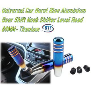 13cm Auto Shift Knob Long Semi-burnt Blue Aluminium Smooths Gear Shifter Head Accessories for Car Modification Manual Transmission Shifter Handle