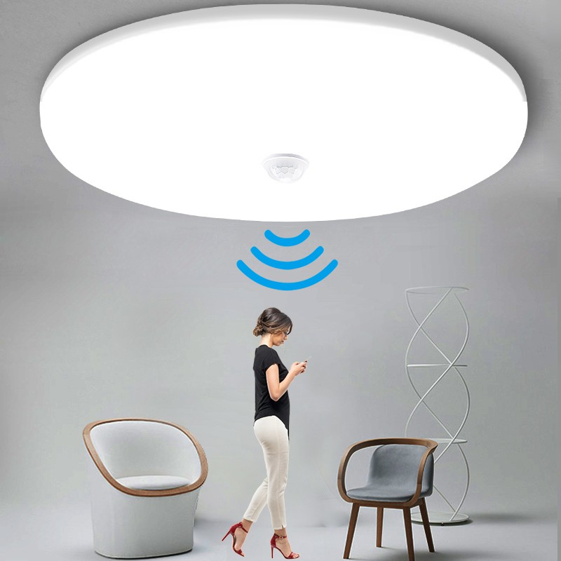 Motion Sensor Led Ceiling Light Fixtures Surface Mounted Ceiling Lamp 12w 18w Panel Night Light 220v For Home Bedroom Shopee Malaysia
