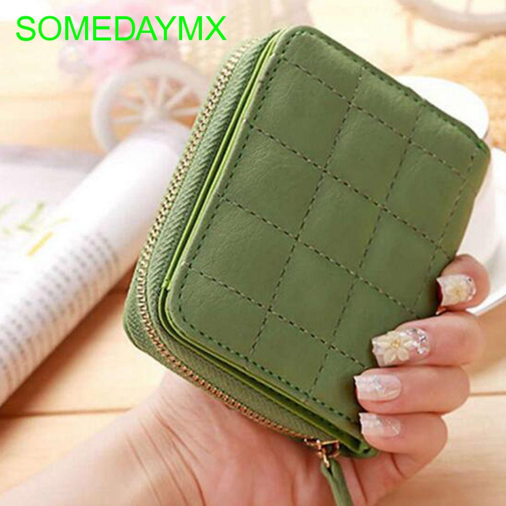 Clutch Card Zipper PU Leather Bifold Wallet