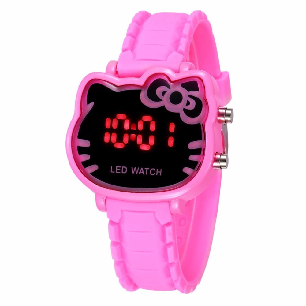 ee2edd276 Cute Hello Kitty Watch Cartoon Kids Children Girls Wrist Watches Crystal  Clock | Shopee Malaysia