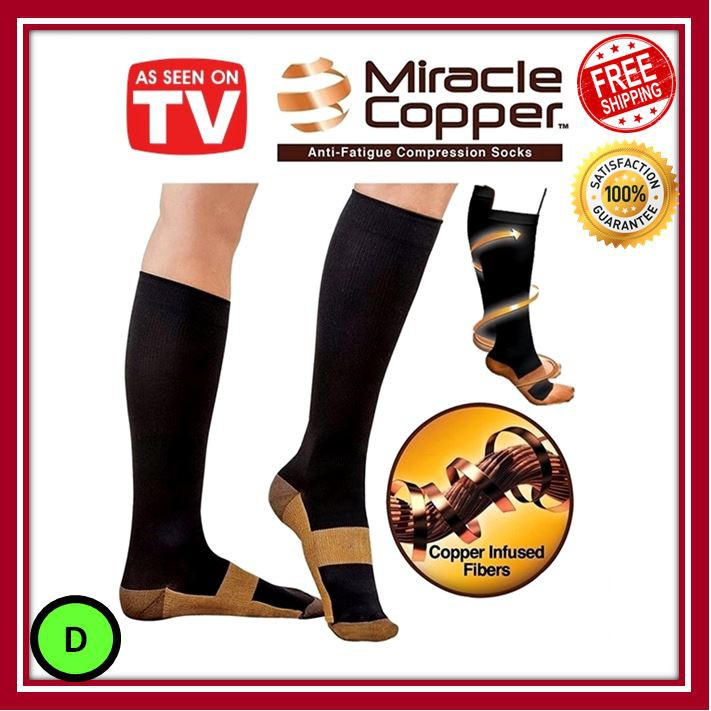 Dynamic Miracle Copper Compression Socks Unisex Anti-fatigue Compression Socks Foot Pain Relief Soft Magic Socks Men Women Leg Support Excellent In Cushion Effect Men's Socks