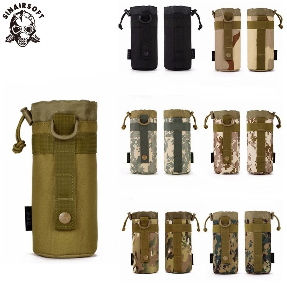 Outdoor Tactical Military Water Bottle Bag Kettle Pouch Holder Carrier