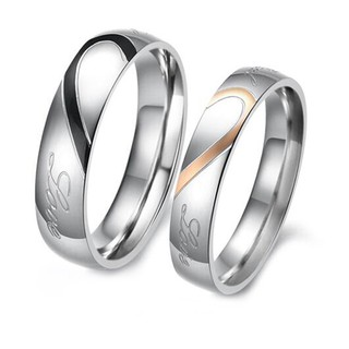 4e51aa883a20d SILIFE Stainless Steel Couple Ring Men Women Romantic Heart Lovers ...