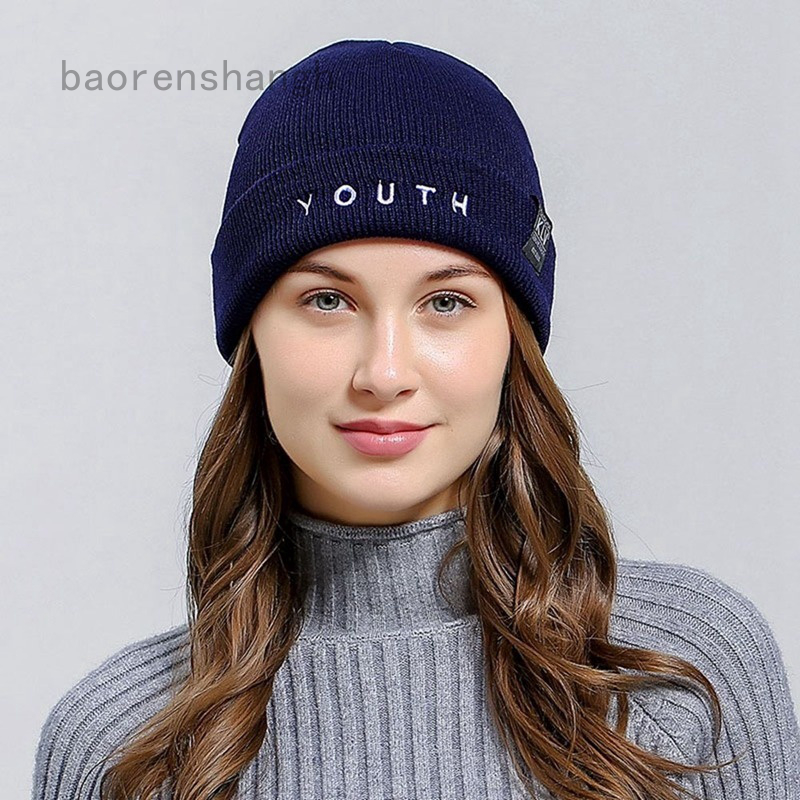 Baorenshangh Winter Fashion Cotton Knitted Hat Men Women Knitted Winter Spring Hat Beanies Caps Outdoor Sport Hats Unisex Cap Shopee Malaysia