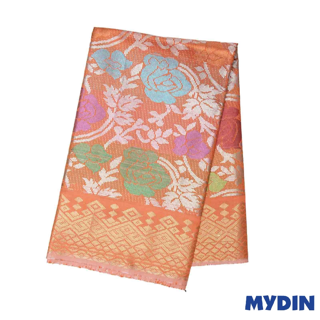"Men Sampin - (B) Multcolor on Orange with Roses Designs (2.25m X 36"") 0819SRLHDD01 #Raya"