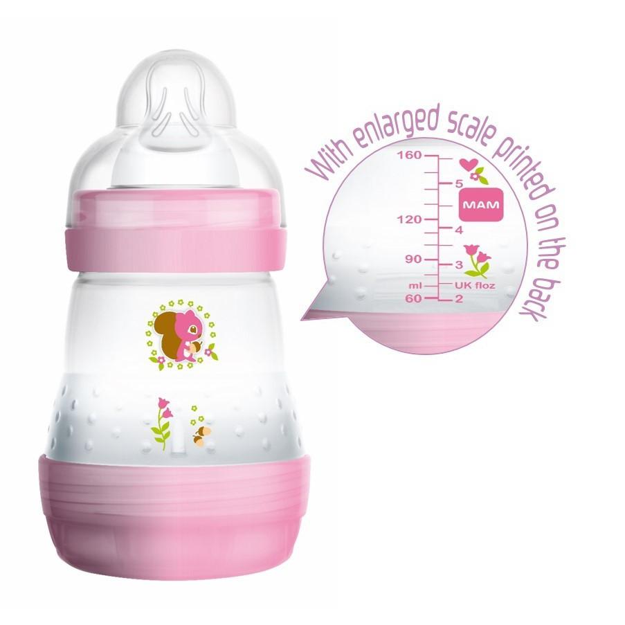 New Design Mam Anti Colic Bottle 5oz 160ml Girl Boy Loose Pack Without Box Comotomo 150 Ml Single Pink Feeding Shopee Malaysia