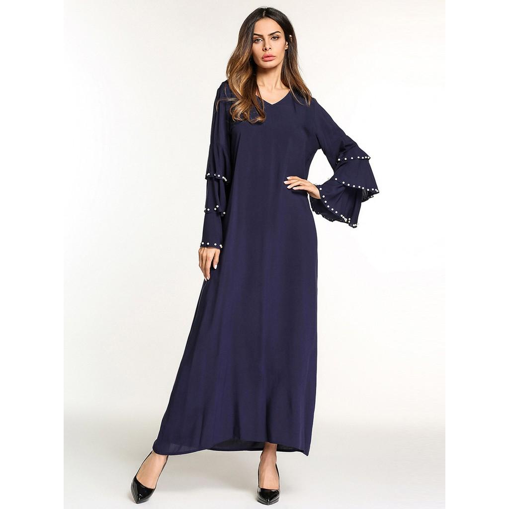 5c3f0f7255 women robe loose Arabic dubai abaya islamic clothing Muslim dress ...