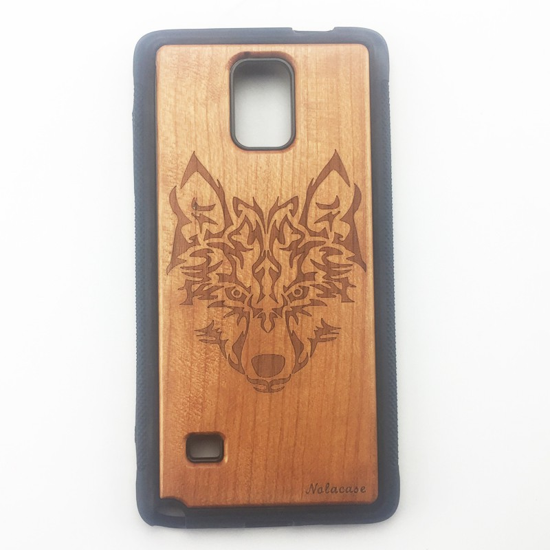 finest selection 550b6 4a1d5 For Samsung Galaxy Note 4 5 s5 s6 edge s6edge plus Wood Full TPU Wood Case  Cover