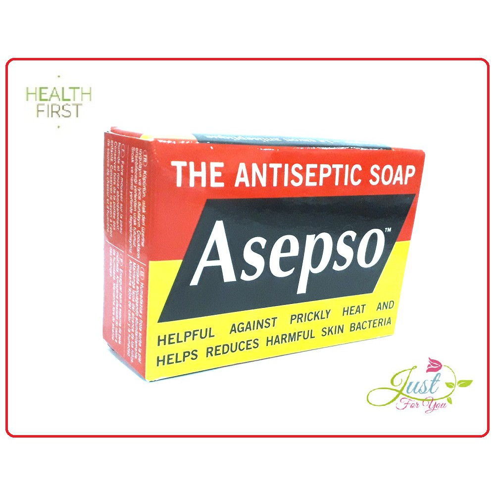 VALUE PACK!!!!Asepso Antiseptic Soap (80g) Exp date 3/2024