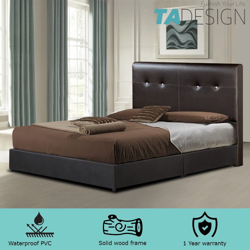TAD Queen & king size 6' divan bed frame- 3 option
