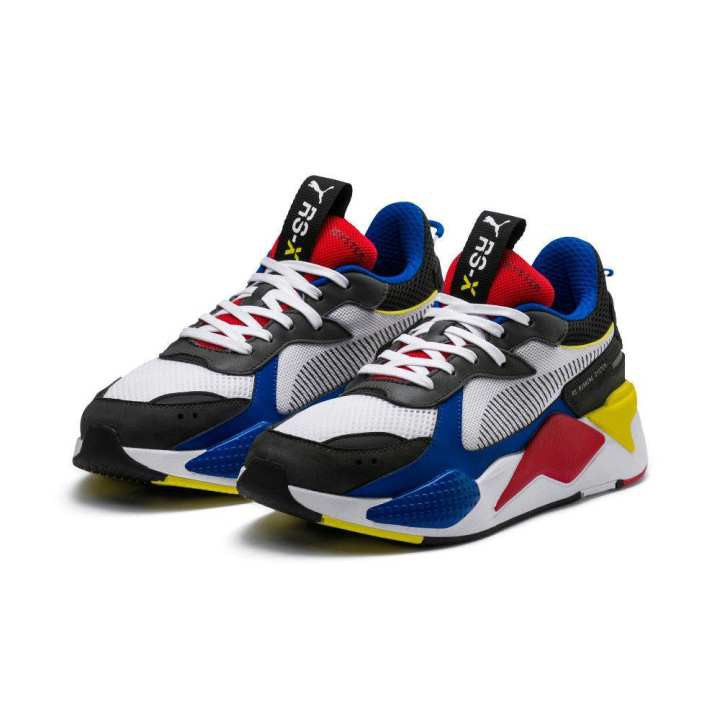 original New PUMA RS-X Toys Unisex Athletic Sneakers Shoes-  White/Royal/Red(369449-02)