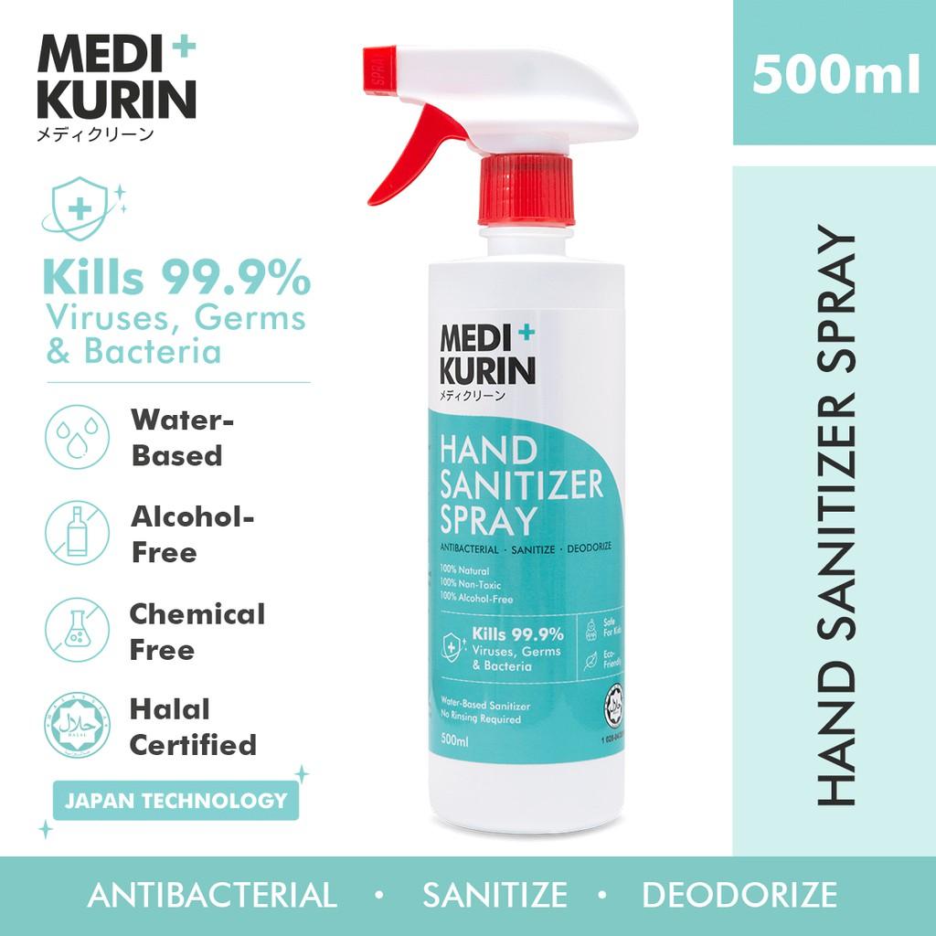 [ 100% NATURAL ] MEDI+KURIN HAND SANITIZER SPRAY 500ml