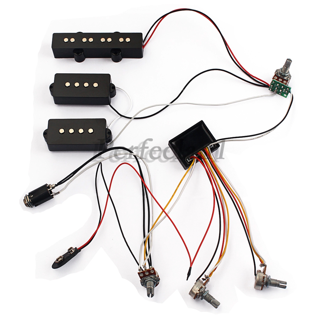 1 Set Wiring Harness EQ Preamp Equalizer Pickup for JB PB B Guitar P B Guitar Wiring Diagram on