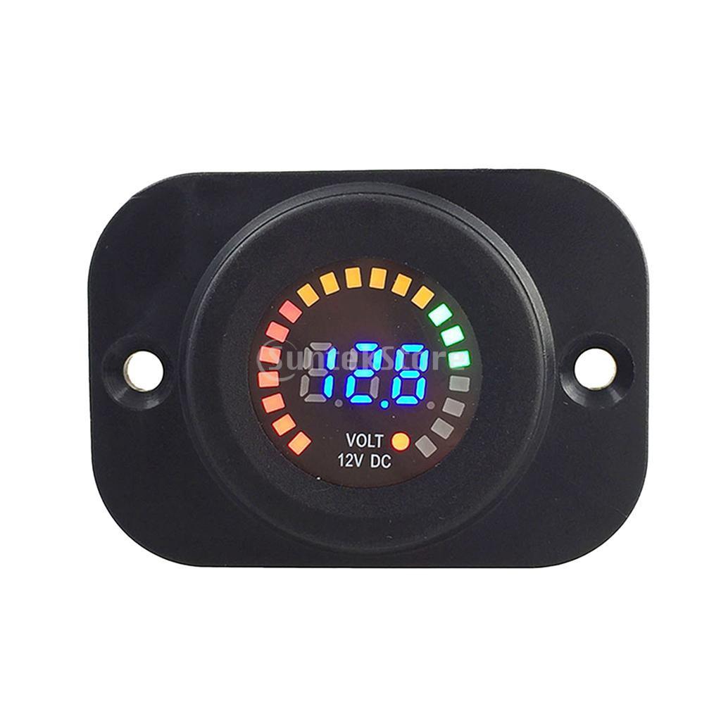 Universal Digital Led Voltmeter Voltage Meter For 12v Car Motorcycle Auto Circuit Tester 6v 24 Volts Gauge Test 100 Amp 6 12 Volt Battery Load Mechanic Tool Shopee Malaysia
