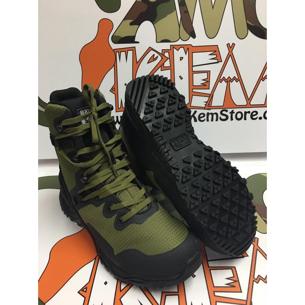 "Original SWAT Alpha Fury 8"" Side Zip Boot (Olive Drab), Kasut Operasi Polis Army Military, Taktikal, 1 Year Warranty"