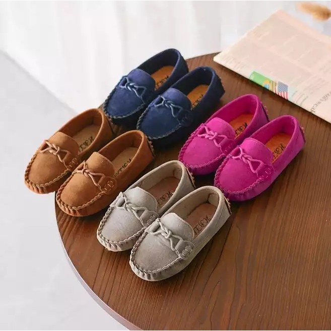 6ffc34c615 Children Soft PU Leather Casual Shoes Boys Loafers Girls Moccasins Shoes