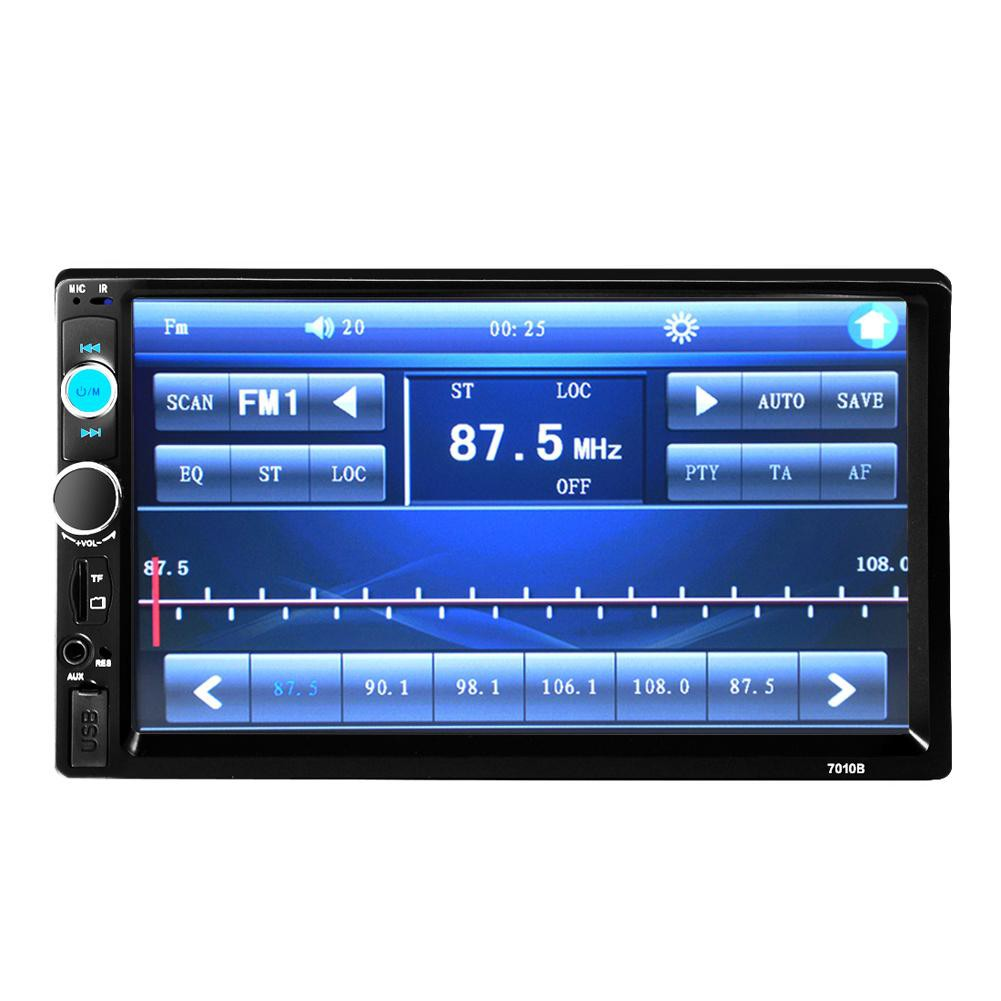 7Inch Double 2Din Car MP5 Player Bluetooth Stereo Radio HD Camera FM Aux Input
