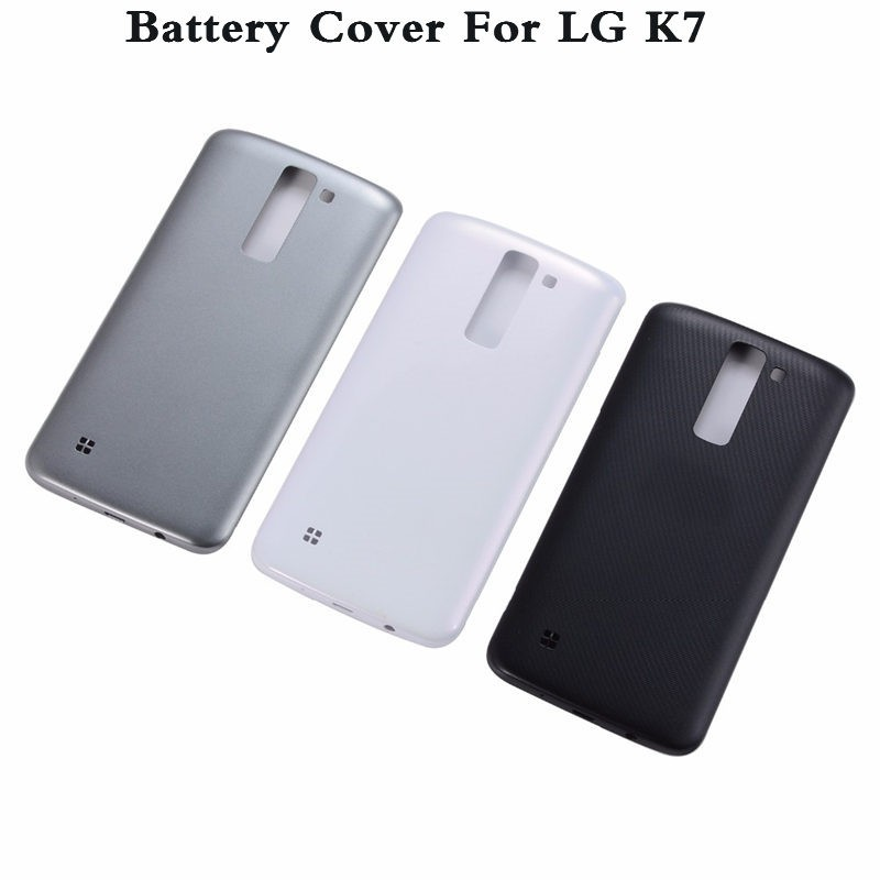 wholesale dealer ad724 0d173 For LG K7 2016 Battery Back Cover Housing Case Rear Door With Logo