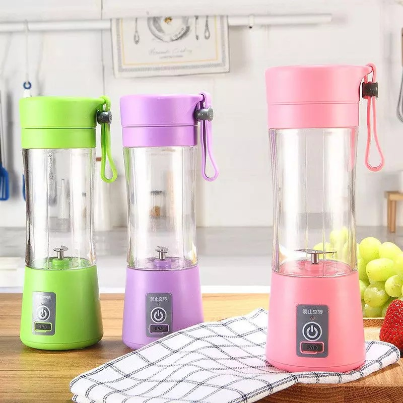 [ READYSTOCK ]   Portable Usb Electric Rechargeable Juice Cup Water Bottle Blender Jualan Murah Kitchen Fruit Kid Charger