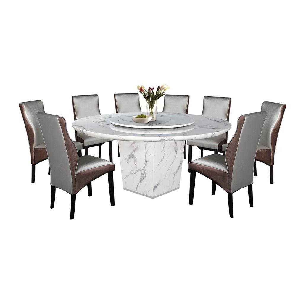 Nl Mtk06b 5082 5 Luxury Design Round Marble Dining Table Set 1 8 Shopee Malaysia