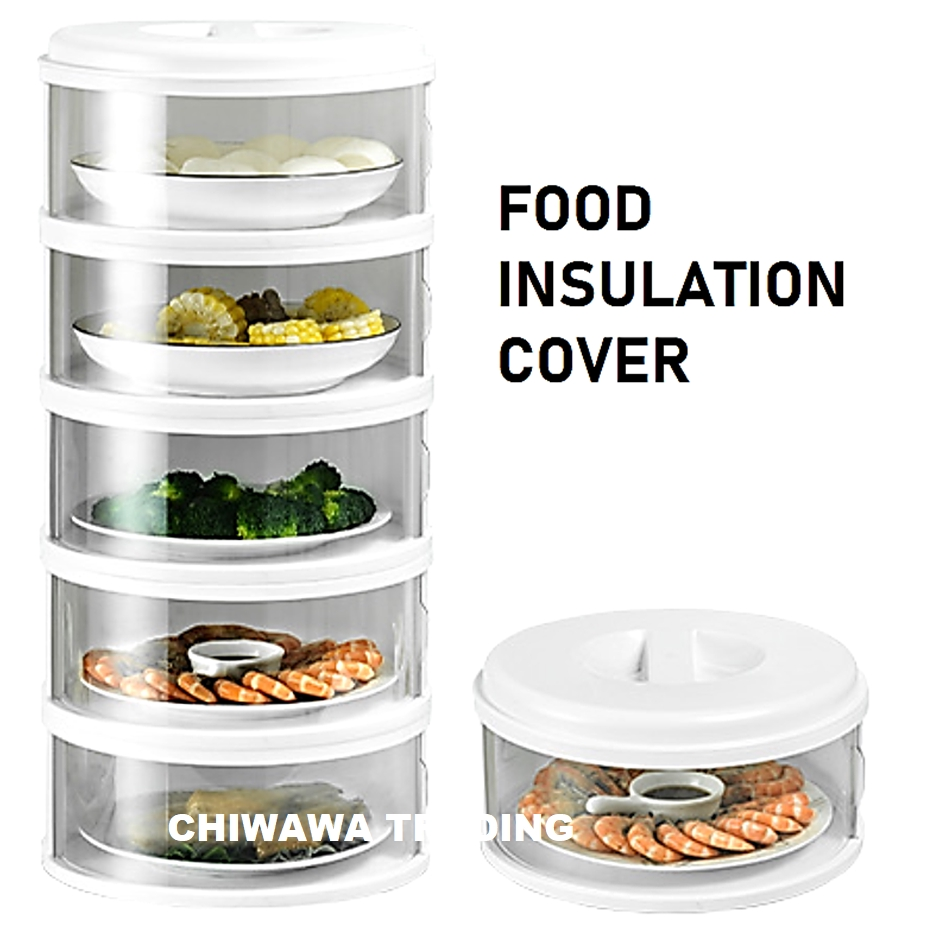 Stackable Layer Insulation Food Cover Dust Proof Dishes Dish Transparent Storage Container Save Space Rack Tudung Saji