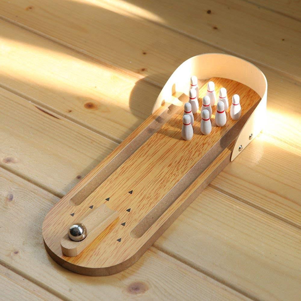 Tabletop Bowling Toy Mini Desktop Bowling Game Mini Bowling Game Mini Wooden