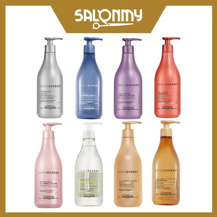 L'oreal Silver/Sensi Balance/Inforcer/Absolut Repair/Liss Unlimited/Vitamino/Pure Resource/Nutrifier Shampoo 500ml