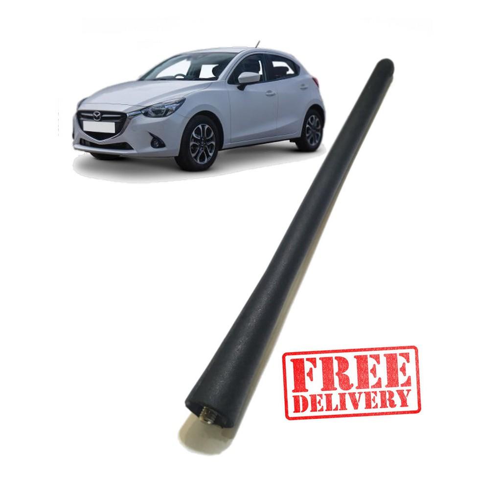 Audio & Video Accessories D DOLITY 16 inch Stubby Car SUV Antenna AM/FM Radio Aerial Screw-On Mast Type Black