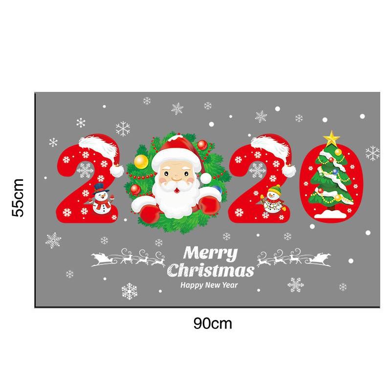 Big Christmas Snowman Snowflake Santa Wall Decal PVC Window Sticker Decor FI