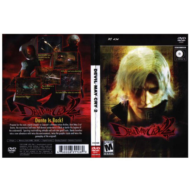PS2 Games CD Collection (2 CD) Devil May Cry 2