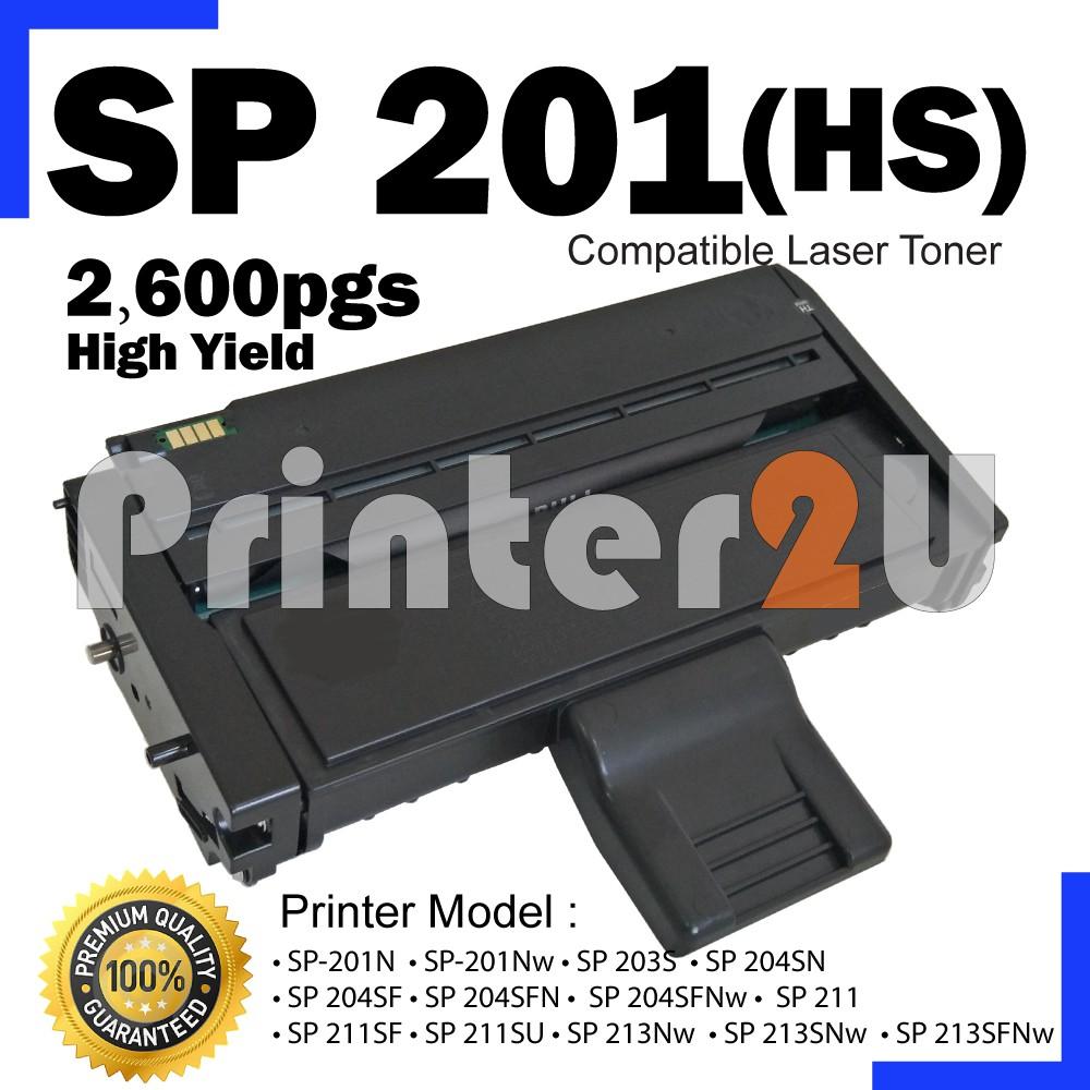 SP201HS Compatible Ricoh Aficio SP 212SFW 212SNW 212SUW 212W 213 213NW  213SFNW 213SFW 213SNW 213SUW 213W Printer Toner