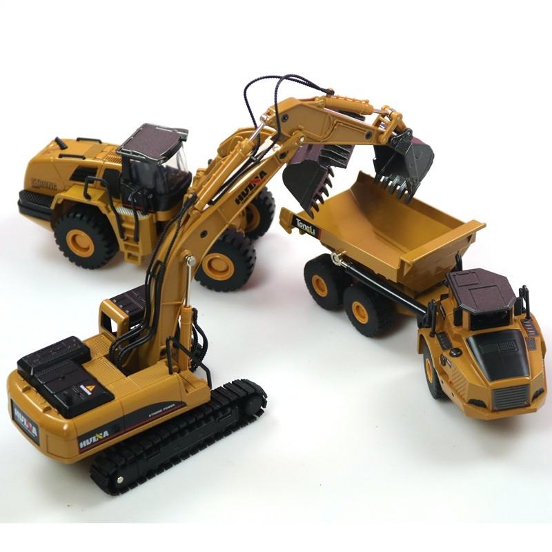 1//50 Scale Diecast Crawler Excavator Construction Vehicle Car Models Toys Kids