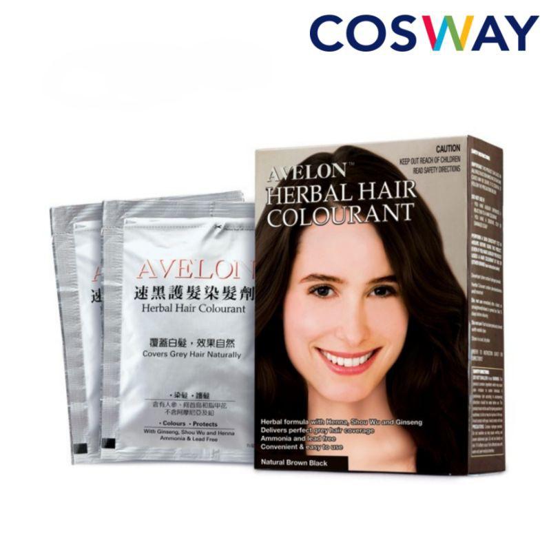 COSWAY Avelon Herbal Hair Colourant (30ml x 3 packs)
