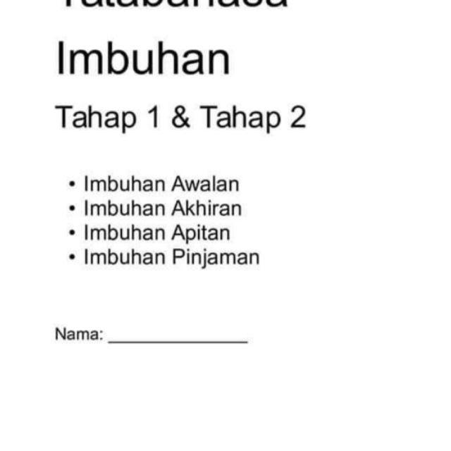 Tatabahasa Imbuhan Tahap 1 And 2 Shopee Malaysia