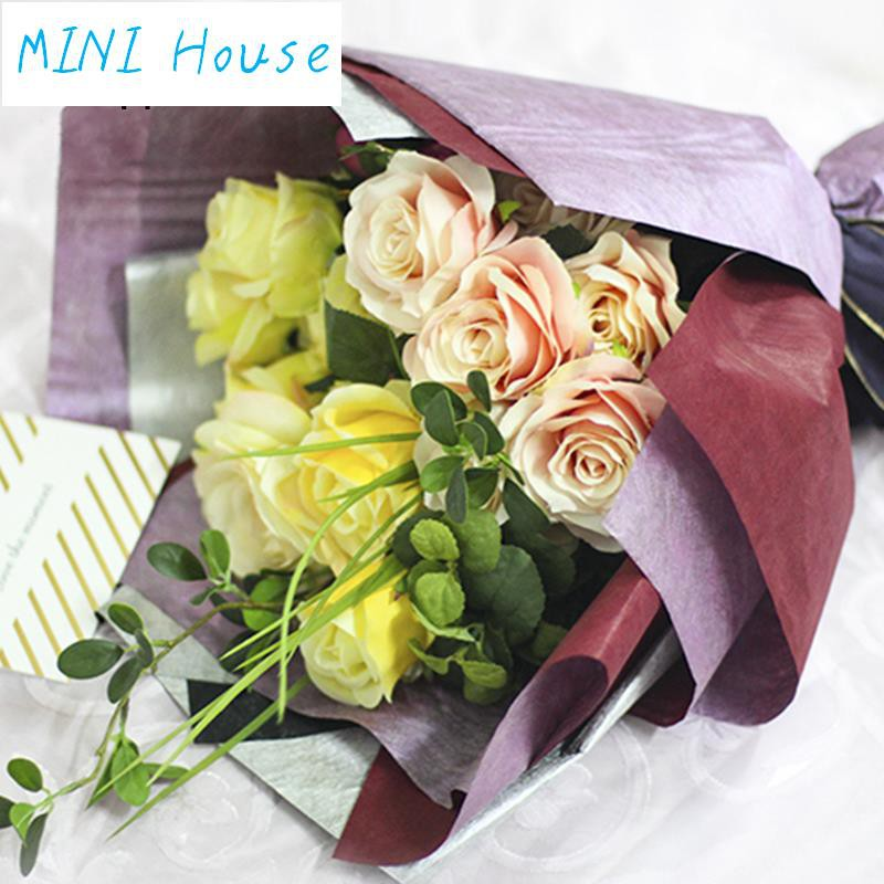 Mini Korean Double Sided Chaise Longue Non Woven Flower Wrapping Paper Delic