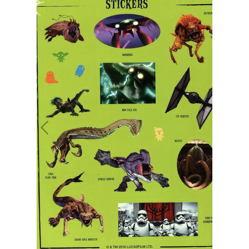 Star Wars Vile Villains Ultimate Sticker Collection Book (More than 1000 stickers)