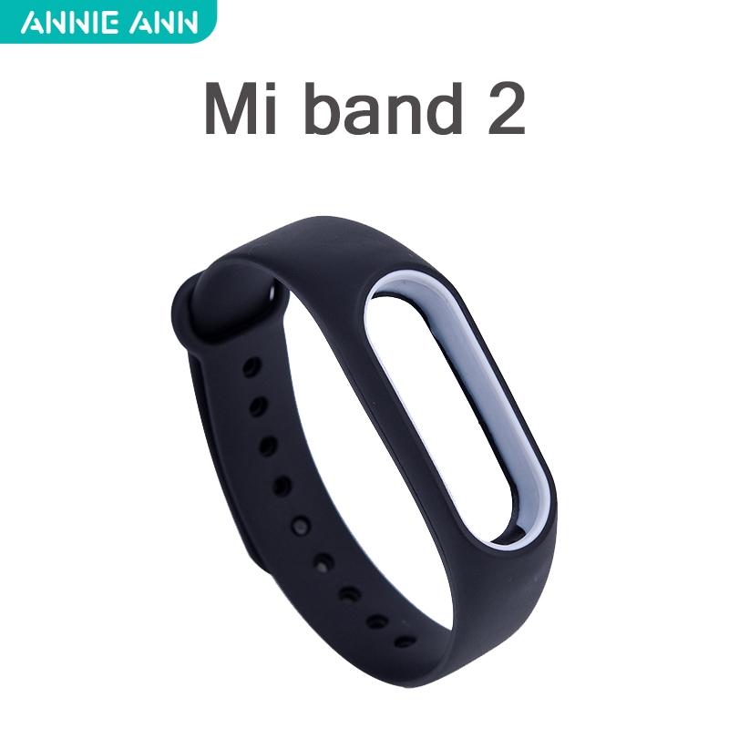 สายนาฬิกาข้อมือซิลิโคนสำหรับ Xiaomi Miband 4 Mi 2
