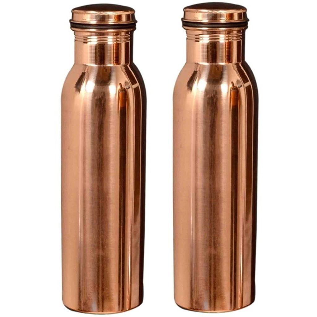 Pure Copper Handmade Water Bottle 950 ml /& 6 Big Cups Glasses Mug Tumbler 750 ml