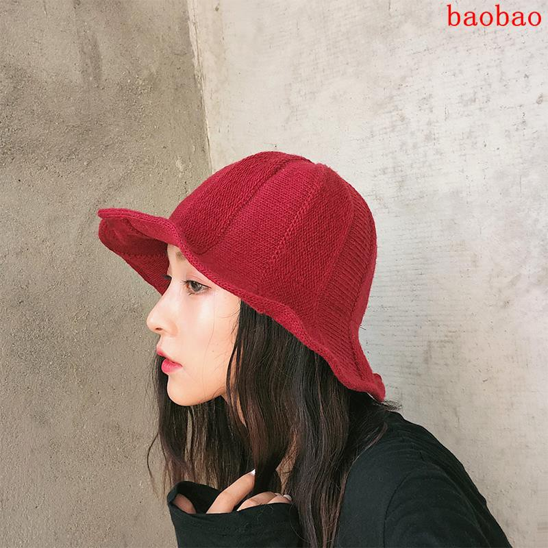 6de37a14d Autumn and winter chic fisherman hat female Korean version of the wild  Japanese